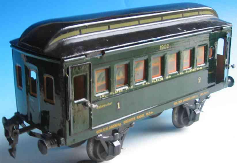 maerklin 1902/0 spielzeug eisenbahn personenwagen gruen spur 0