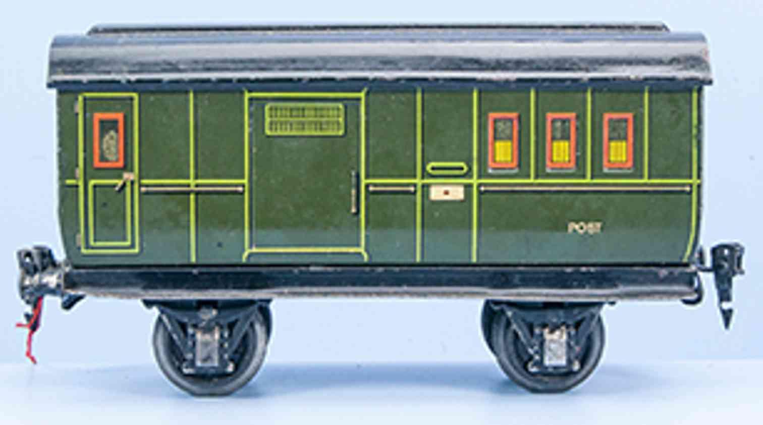 marklin maerklin 1903/1 railway toy mail baggage car green hand-painted gauge 1