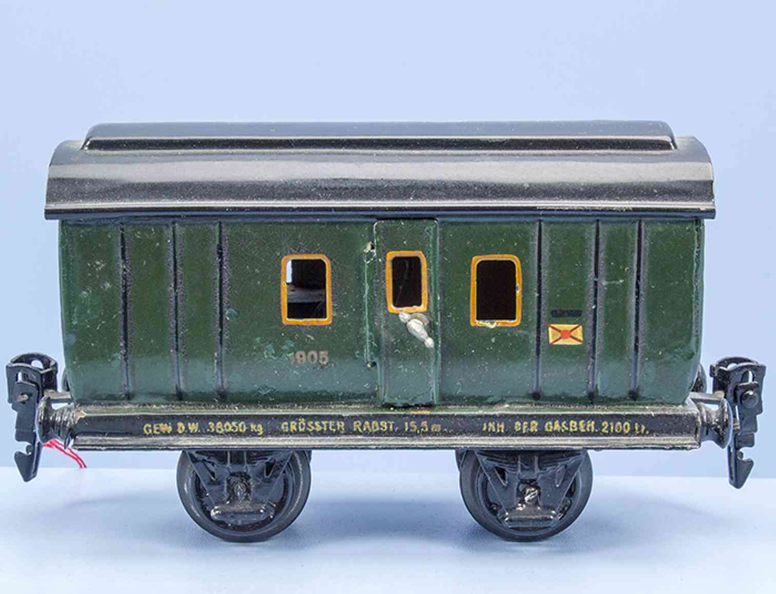 marklin maerklin 1905/0 railway toy post-/ baggage car green gauge 0