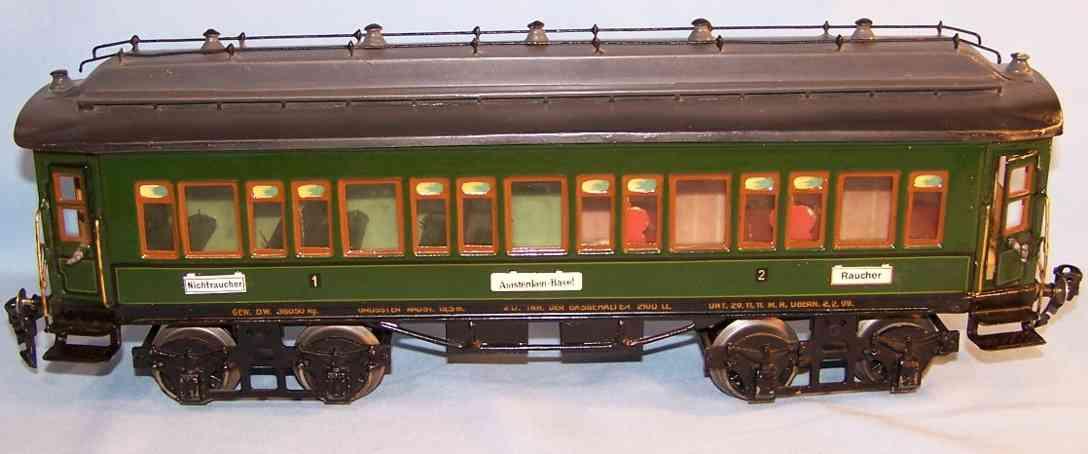 maerklin 1931/1 g spielzeug eisenbahn personenwagen gruen spur 1