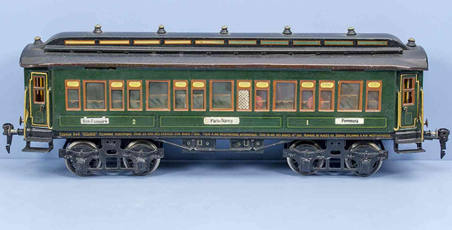 maerklin 1931/1 g 1925 spielzeug eisenbahn franzoesischer personenwagen spur 1