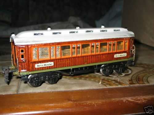 marklin maerklin 1932/0 g railway toy  dining car teak-brown gauge 0