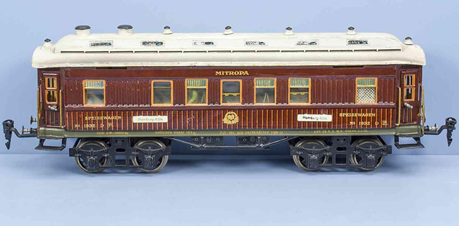 marklin maerklin 1933/1 g rot 1929 railway toy mitropa dining car gauge 1