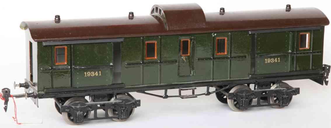 maerklin 1934/1 spielzeug eisenbahn d-zug-gepäckwagen gruen spur 1