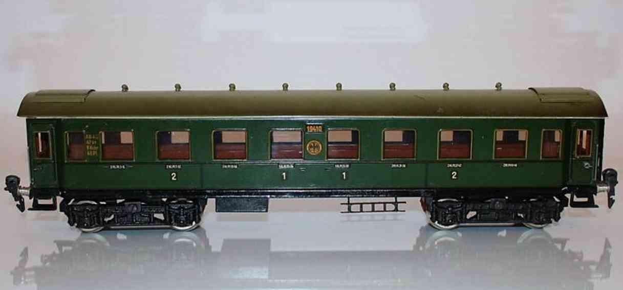 maerklin 1941/0 spielzeug eisenbahn d-zug-wagen px-version gruen spur 0