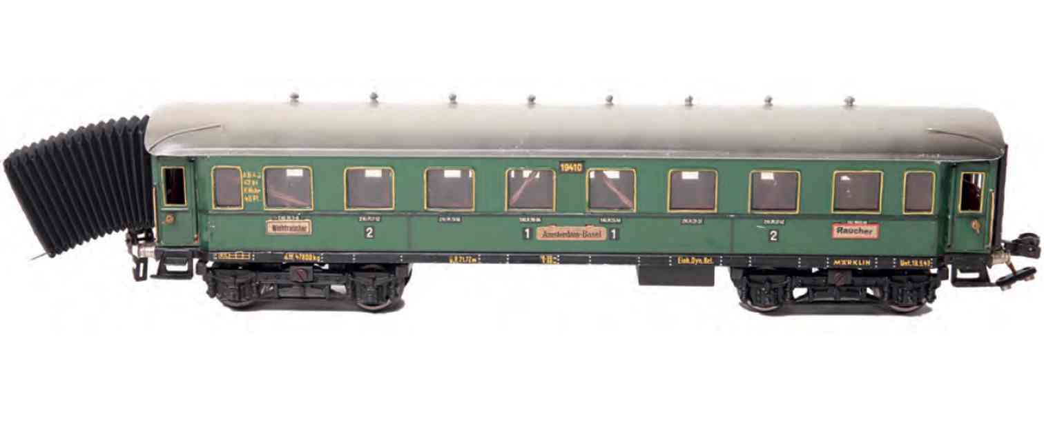 marklin maerklin 1941/0 g railway toy passenger ca green interior design gauge 0