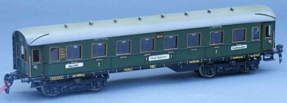 maerklin 1941/0 jg spielzeug internationaler d-zugwagen gruen spur 0