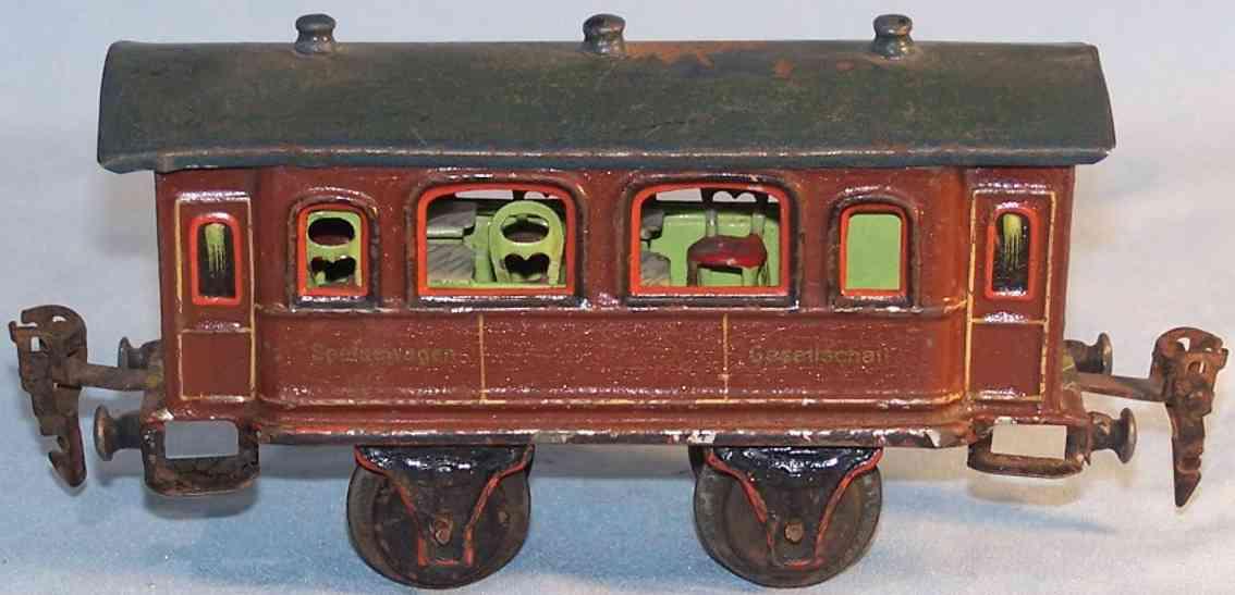 maerklin 1942/0 spielzeug eisenbahn speisewagen mit inneneinrichtung spur 0