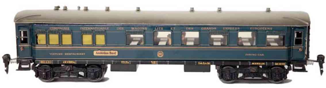 marklin maerklin 1942/0 jg railway toy dining car blue gauge 0
