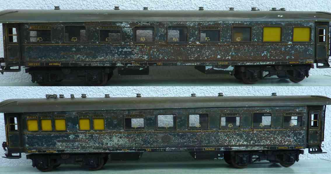 maerklin 1942/1 j spielzeug eisenbahn speisewagen blau spur 1