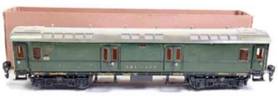 marklin maerklin 1945/0 g railway toy mail car sbb-cff gauge 0