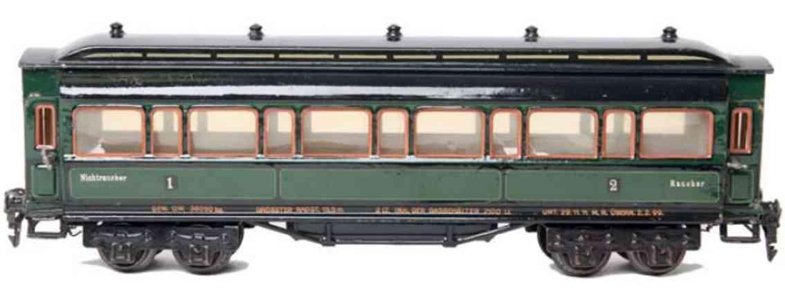 marklin maerklin 1945/0 5 roof fans railway toy passenger car gauge 0