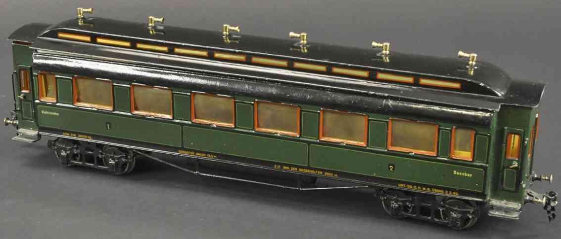 maerklin 1945/1 g spielzeug eisenbahn personenwagen gruen schwarz spur 1