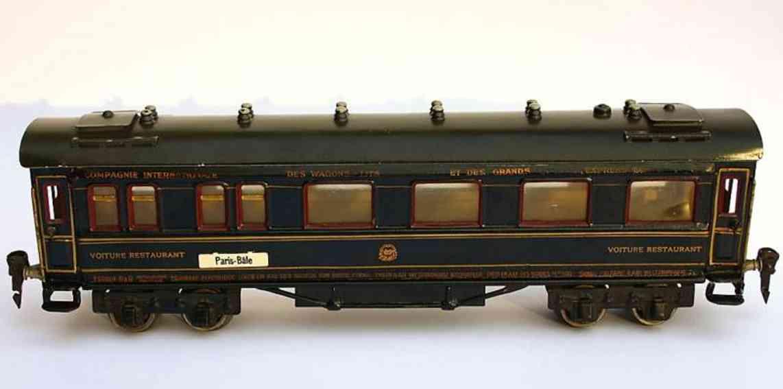 maerklin 1946/0 j spielzeug eisenbahn speisewagen blau spur 0