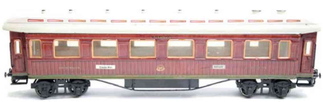 marklin maerklin 1946/1 1925 railway toy dining car teak brown 8 fans gauge 1
