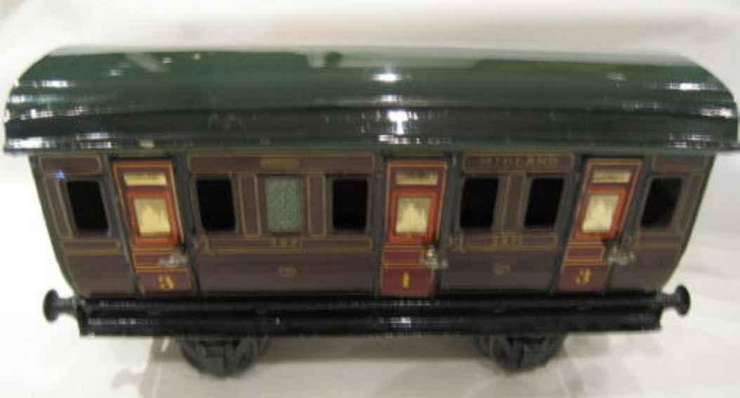maerklin 2871/1 mr spielzeug eisenbahn englischer abteilwagen rotbraun spur 1