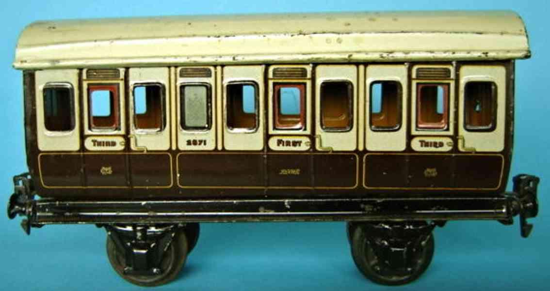 maerklin 2871/1 lnwr personenwagen englischer abteilwagen weiss braun spur 1
