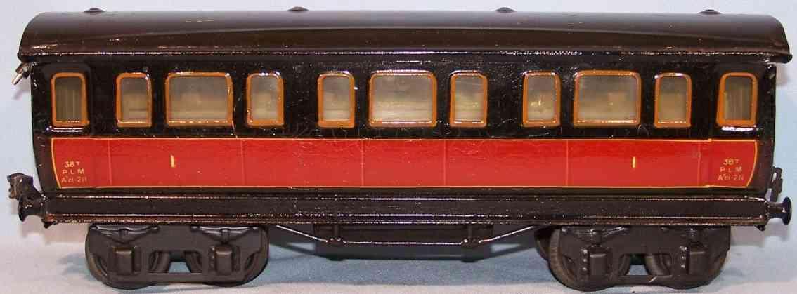 maerklin 2873/1 plm spielzeug eisenbahn franzoesischer personenwagen rot spur 1