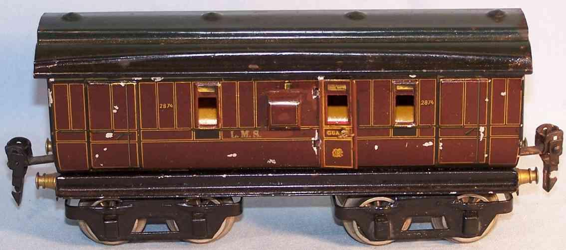 maerklin 2874/0 lms personenwagen englischer gepaeckwagen spur 0