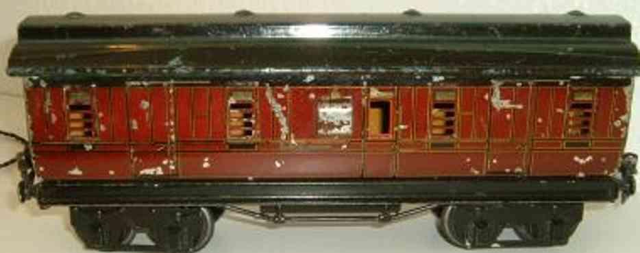 maerklin 2874/1 spielzeug eisenbahn englischer gepaeckwagen rot spur 1
