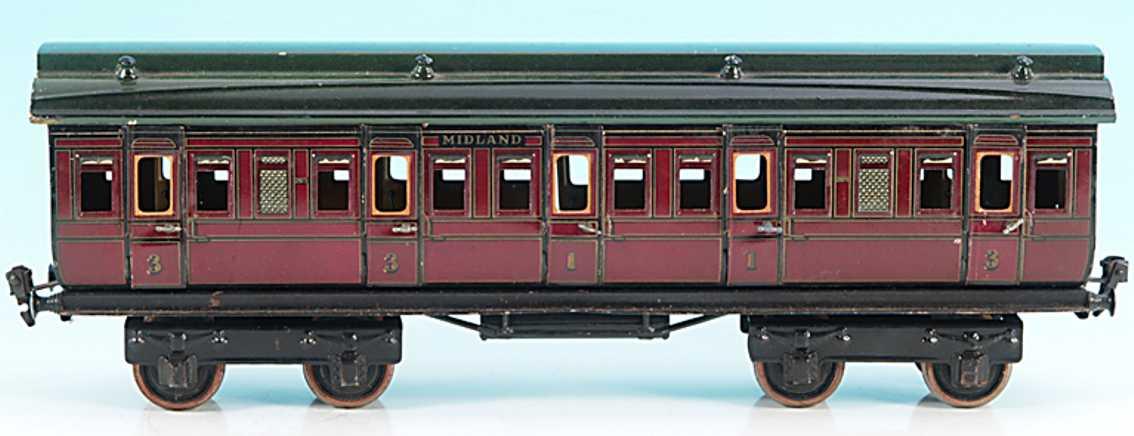 maerklin 2875/1 mr spielzeug eisenbahn englischer abteilwagen rotbraun spur 1