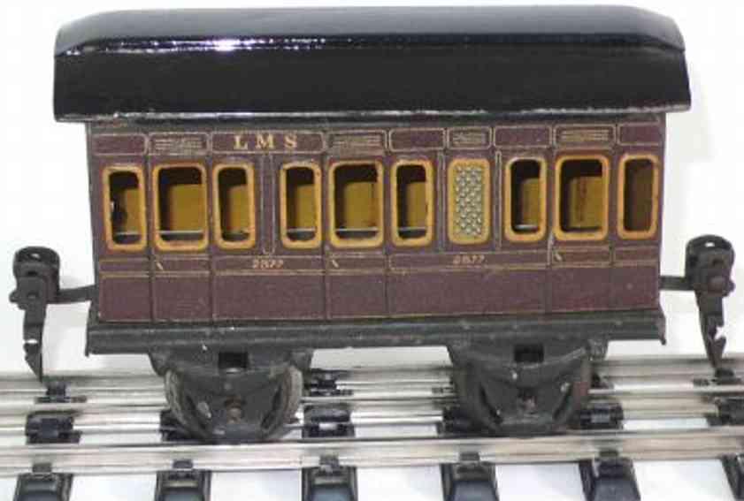 maerklin 2877/0 spielzeug eisenbahn englischer personenwagen rotbraun