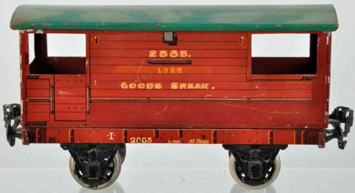 maerklin 2885/1 lner spielzeug eisenbahn englischer personenwagen goods break