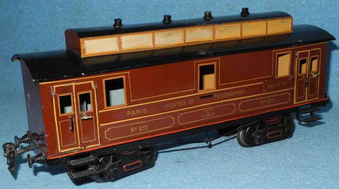 maerklin 2992/1 spielzeug eisenbahn franzoesischer postwagen braun spur 1