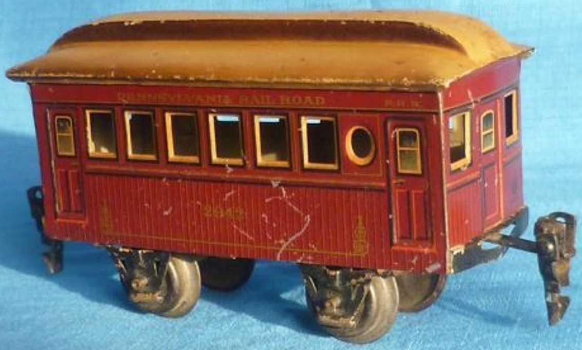 maerklin 2942/0 spielzeug eisenbahn amerikanischer personenwagen rotbraun spur 0