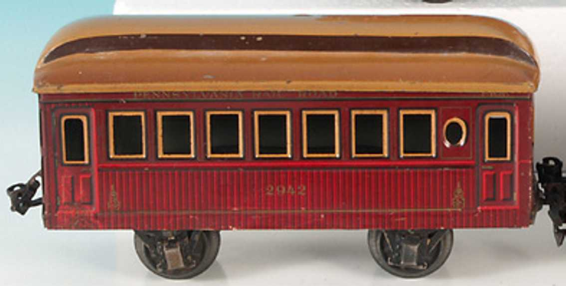 maerklin 2942/1 spielzeug eisenbahn amerikanischer personenwagen rotbraun spur 1