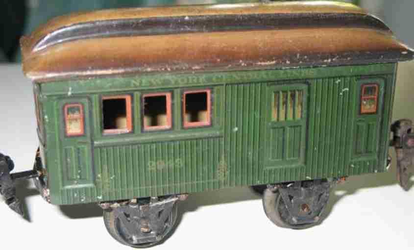maerklin 2943/0 spielzeug eisenbahn amerikanischer gepaeckwagen gruen spur 0