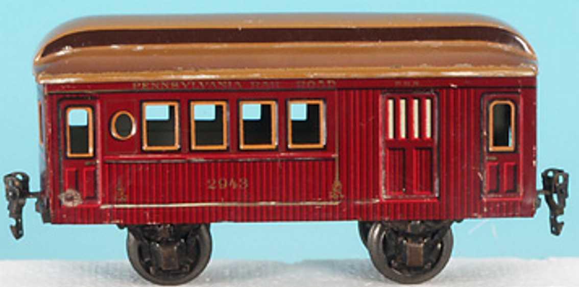 maerklin 2943/1 spielzeug eisenbahn gepaeckwagen rotbraun spur 1