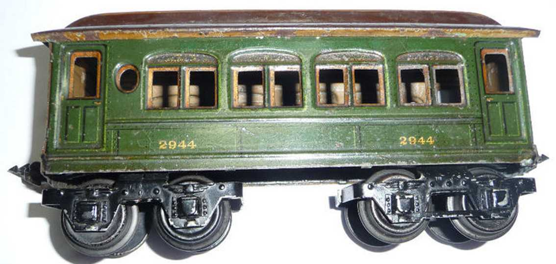 maerklin 2944/0 eisenbahn amerikanischer personenwagen gruen spur 0