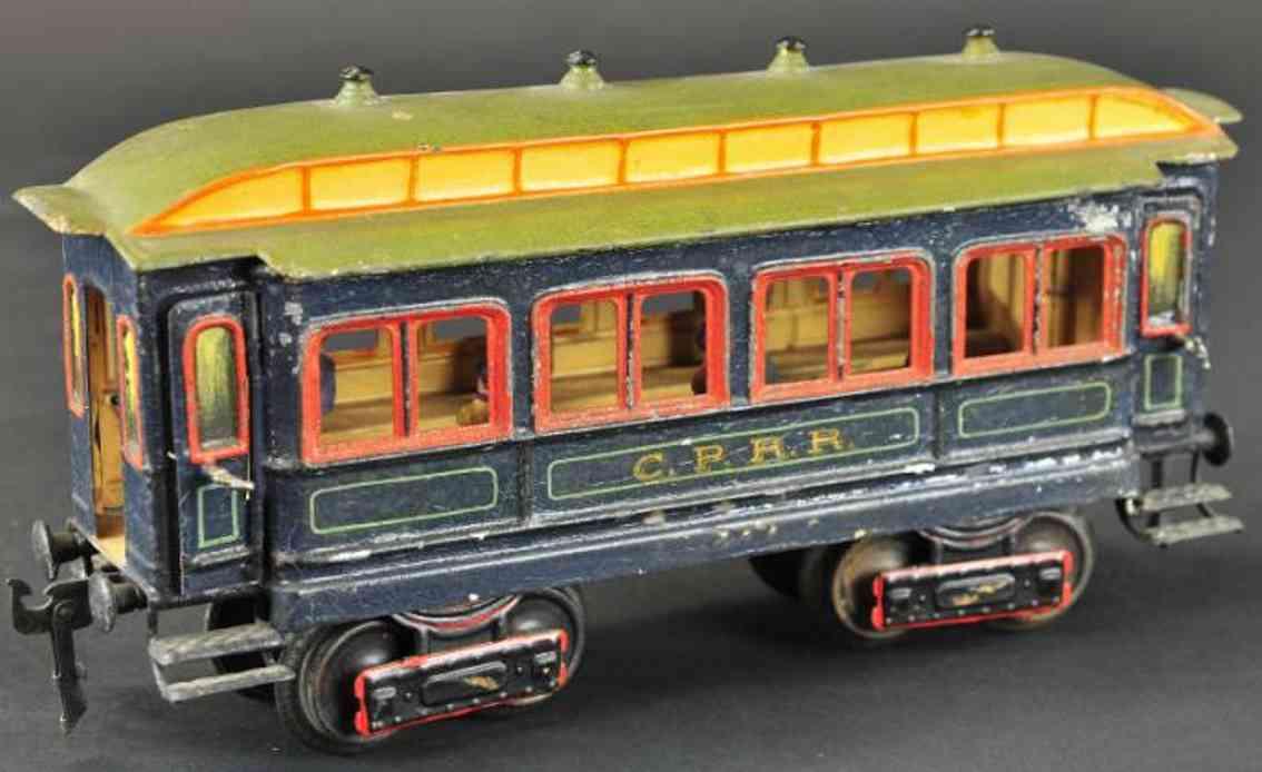 maerklin 2964/1 spielzeug eisenbahn amerikanischer personenwagen blau spur 1