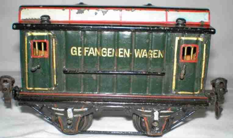 maerklin 2993 spielzeug eisenbahn gefangenenwagen gruen spur 0
