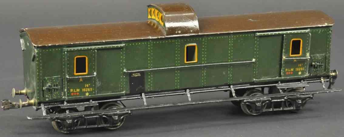 maerklin 2998/1 g plm franzoesischer gepaeckwagen gruen braun spur 1