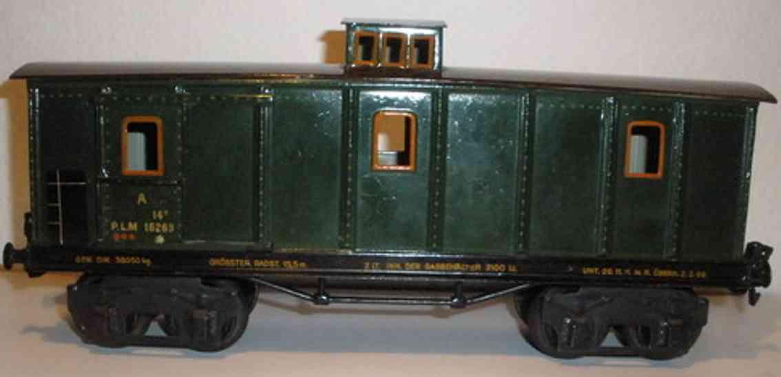 maerklin 2998/1 g spielzeug eisenbahn franzoesischer gepäckwagen gruen spur 1