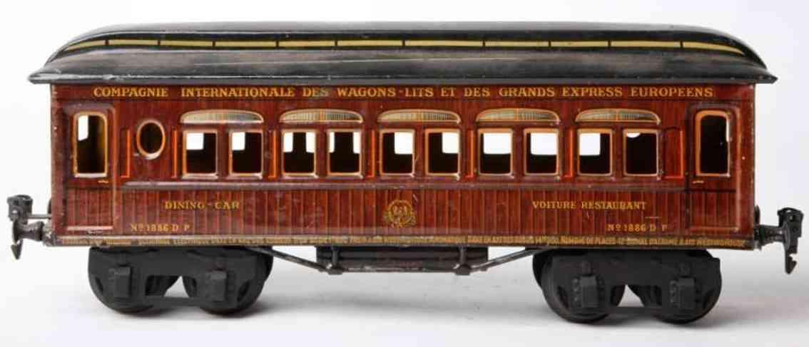 marklin maerklin 1886/1 sh railway toy french sleeping car teak brown gauge 1