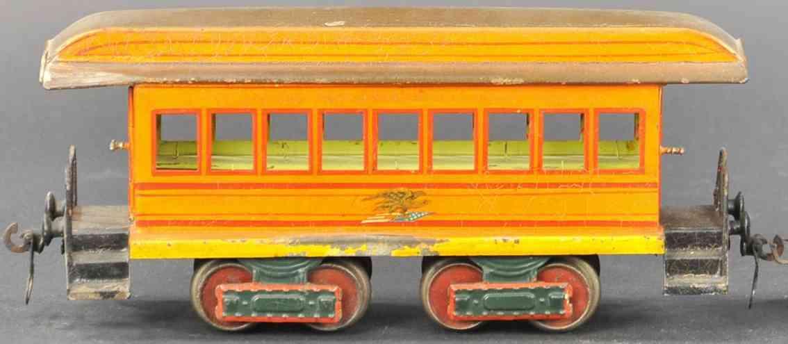 marklin maerklin railway toy american passenger car orange gauge 1