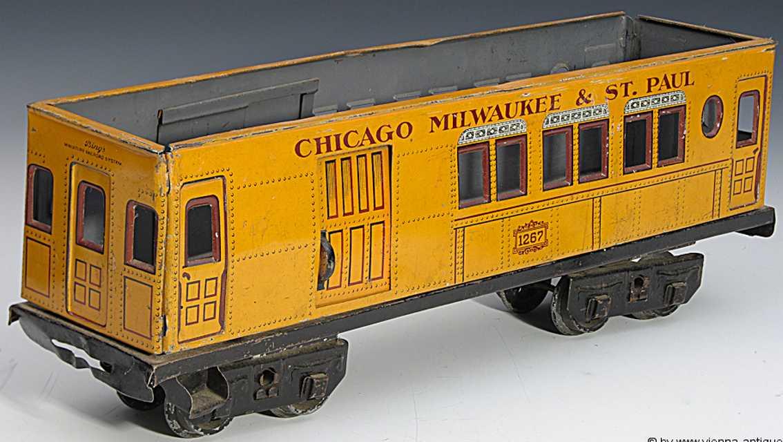 maerklin 2945/1 amerikanischer gepaeckwagen personenwagen gelb chicago spur 1