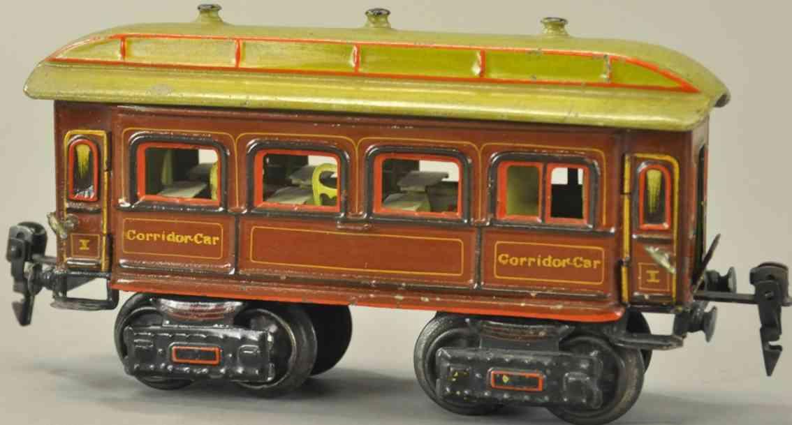 maerklin 1842/0 sp spielzeug eisenbahn personenwagen corridor car spur 0