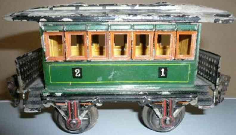 maerklin 1873/1 spielzeug eisenbahn personenwagen gruen spur 1