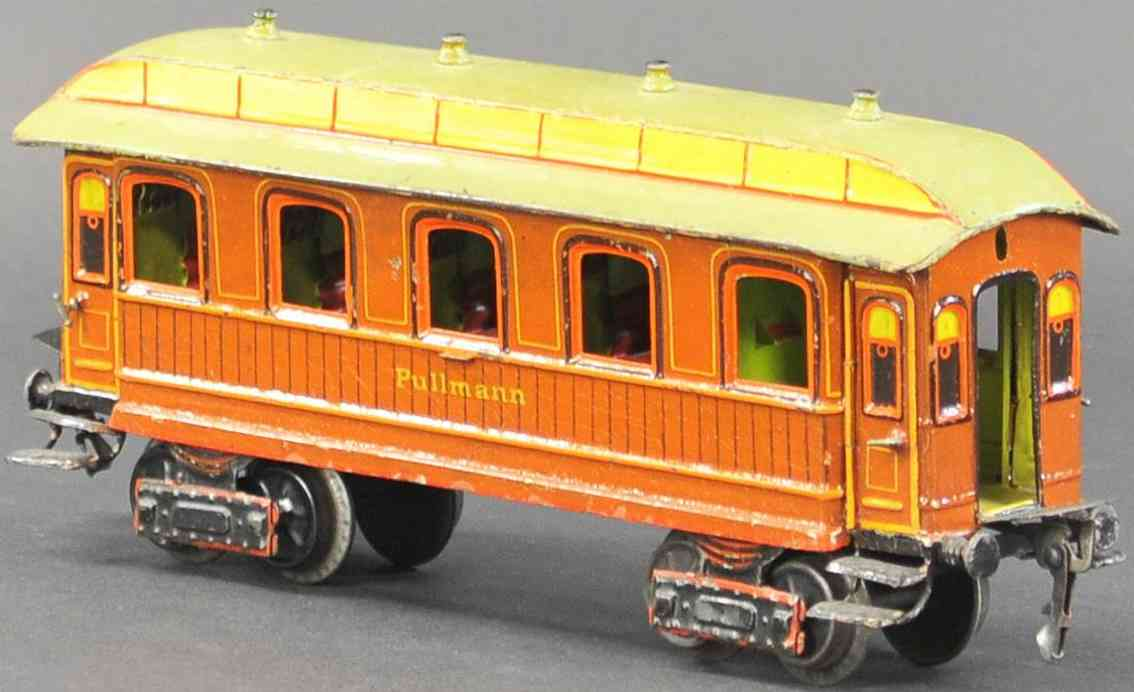 marklin maerklin railway toy american pullmann car brown yellow gauge 1