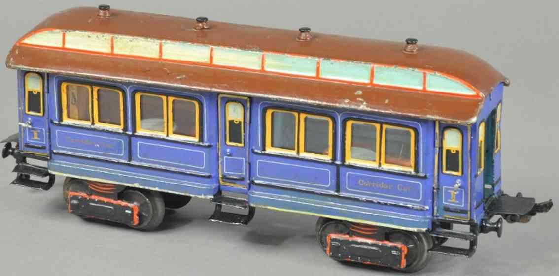 maerklin 1847/1  spielzeug eisenbahn personenwagen blau spur 1