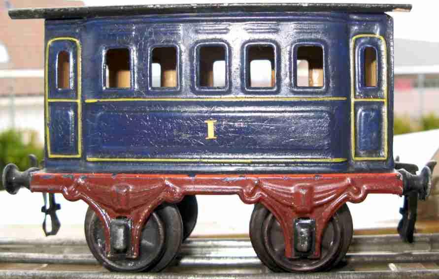 marklin maerklin 1805/1 railway toy passenger car of 1st class blue gauge 1
