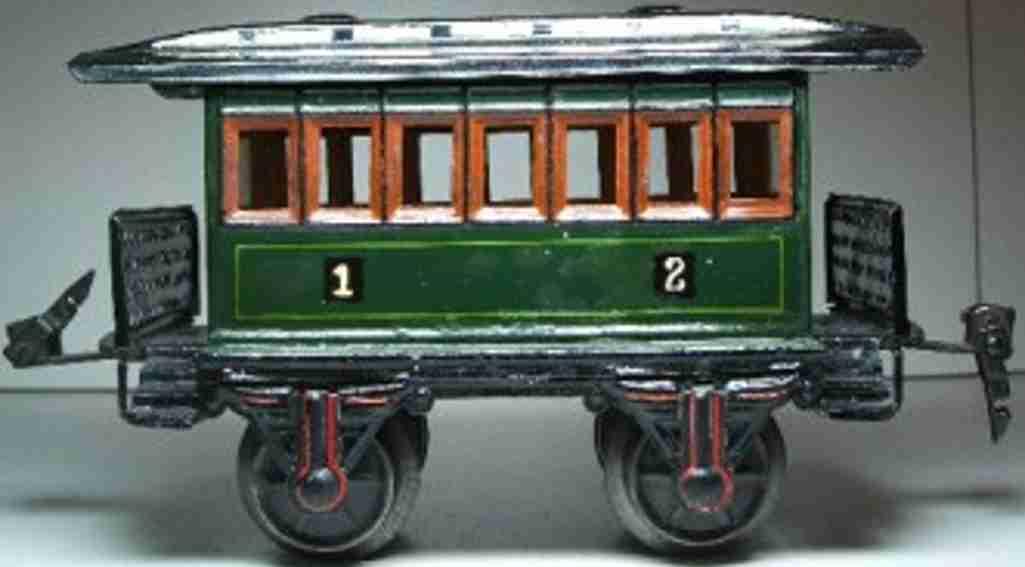 maerklin 1873/1  spielzeug eisenbahn personenwagen aussichtswagen gruen spur 1