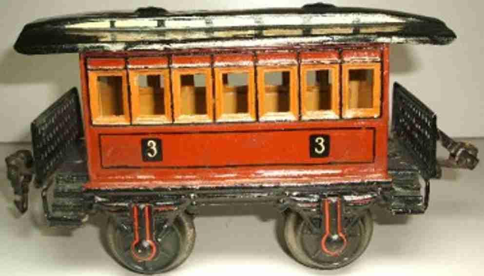 maerklin 1873/1  spielzeug eisenbahn personenwagen aussichtswagen spur 1