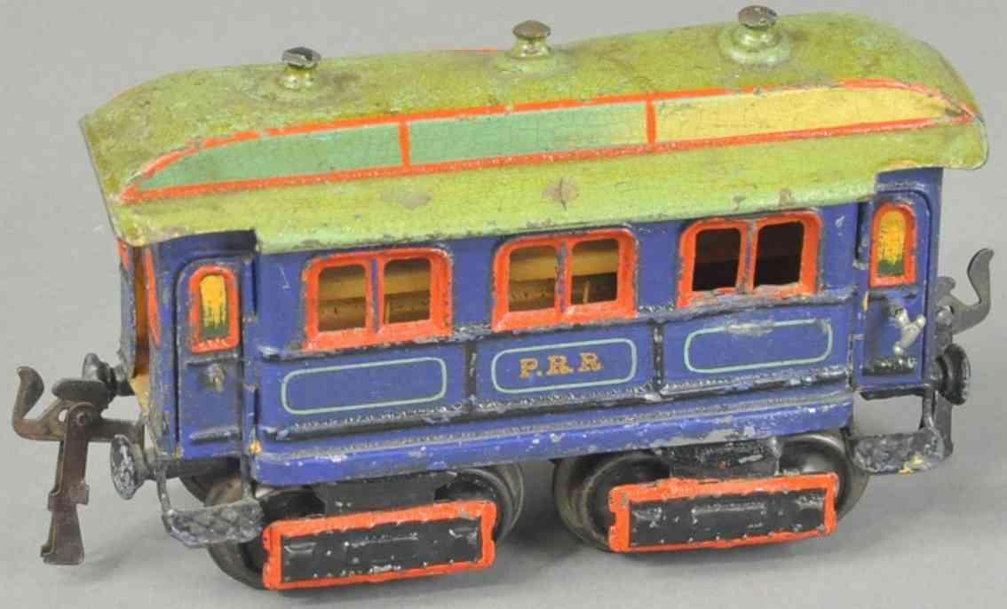 maerklin 2964/0 prr spielzeug eisenbahn amerikanischer personenwagen blau spur 0