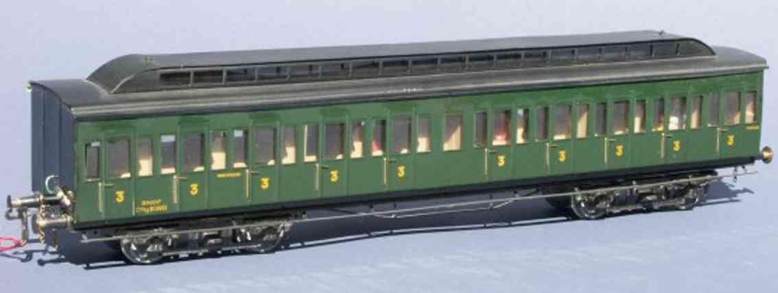 munier spielzeug eisenbahn personenwagen abteilwagen ty 13665 mit oberlicht der sncf; 4-achsig; in gr