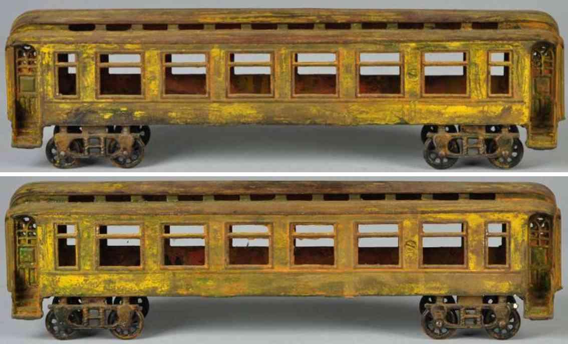 Pratt & Letchworth Cast iron passenger train car